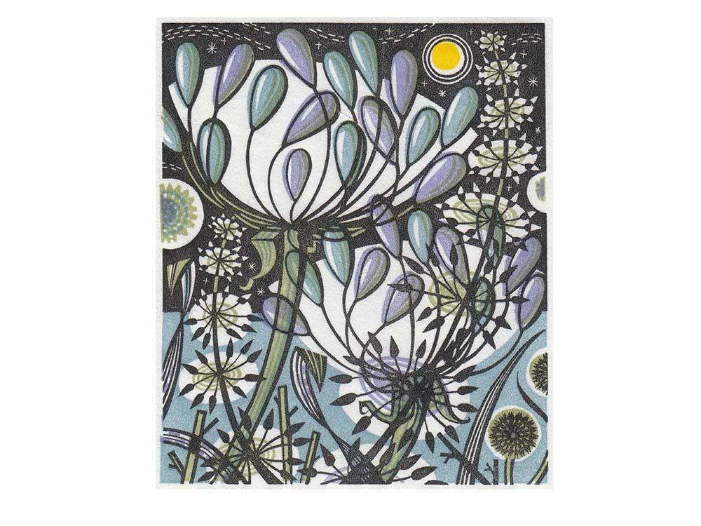 Angie Lewin, Moonlit Garden